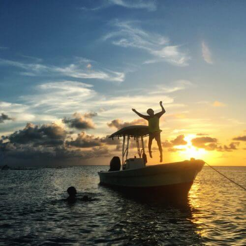 Belize sunset by Mellissa Sevigny of I Breathe Im Hungry