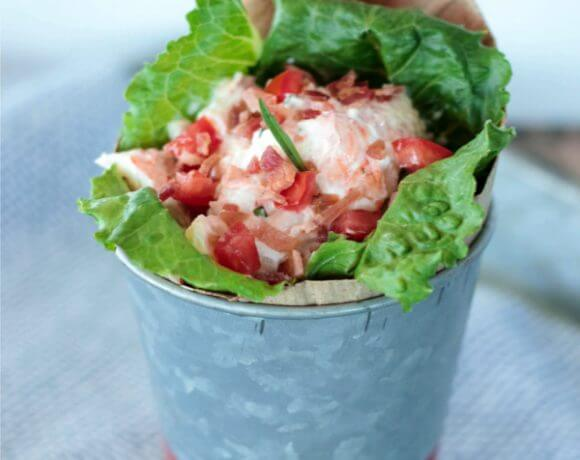 This BLT Lobster Roll Salad is easy and delicious! It's also low carb, Paleo, and Whole 30 approved!