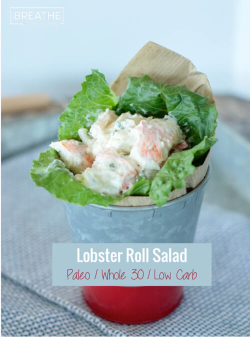 This delicious low carb lobster roll salad has only 4 ingredients - it doesn't need anything else!!! Paleo and Whole 30