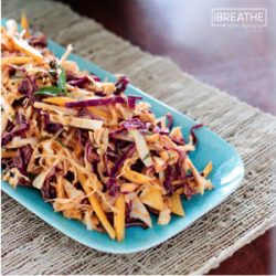 Tropical Slaw w/ Papaya Chia Dressing – Paleo & Whole 30