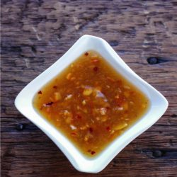 This easy sweet chili dipping sauce is the perfect low carb condiment! Adjust the spiciness to your preference! Perfect on chicken, shrimp or fish!