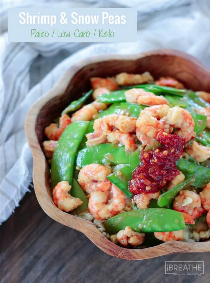 This delicious low carb shrimp & snow peas recipe is so good that you'll never miss the sugar-laden takeout version again! You can also substitute chicken, pork or beef!