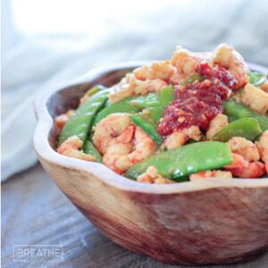 Low Carb Shrimp & Snow Peas