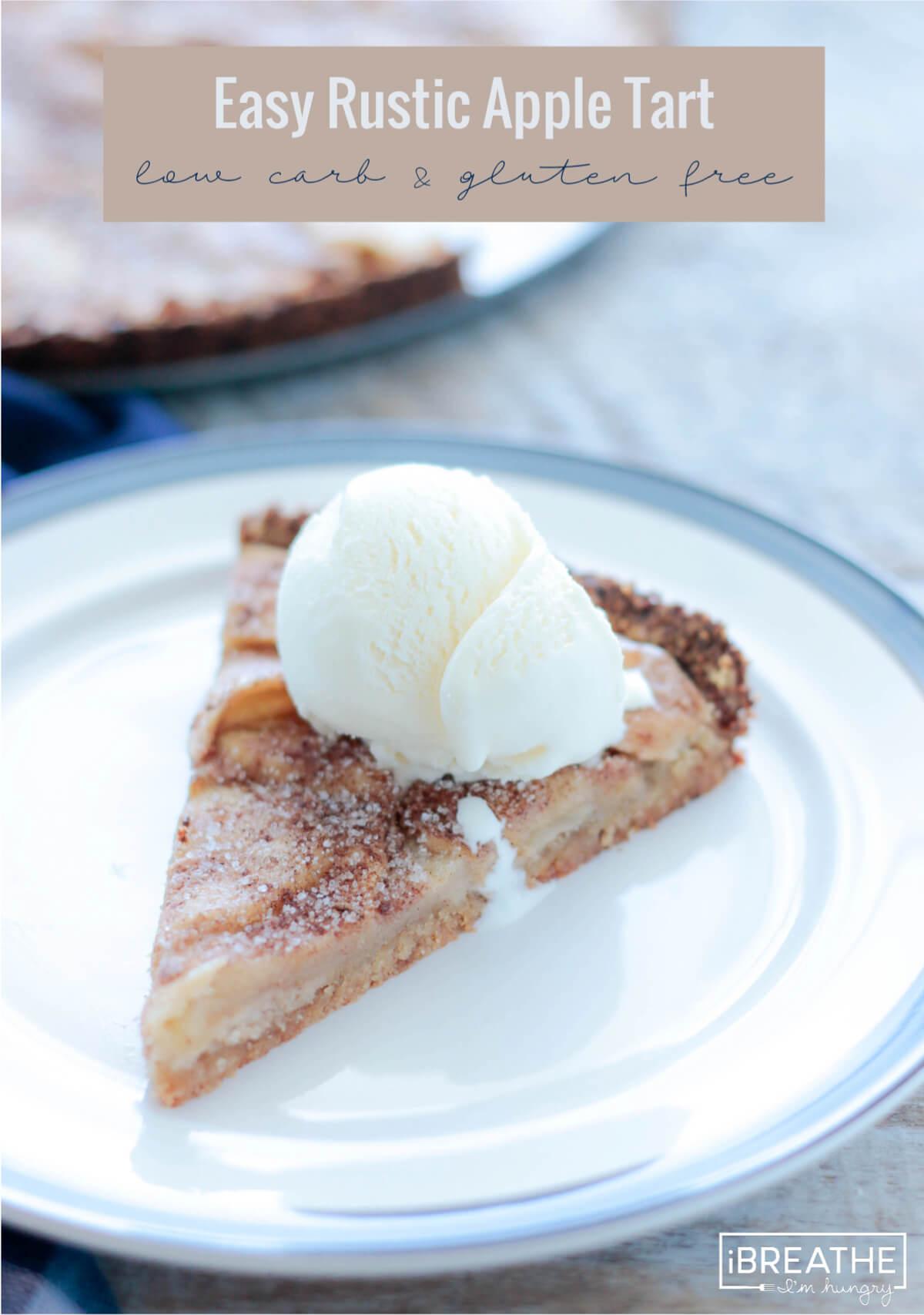 Keto Apple Tart serving suggestion - add vanilla ice cream!