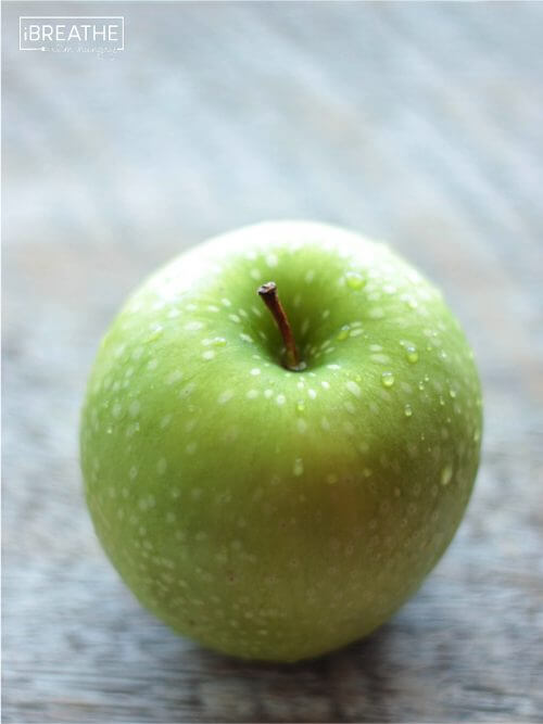 A granny smith apple by Mellissa Sevigny of I Breathe Im Hungry
