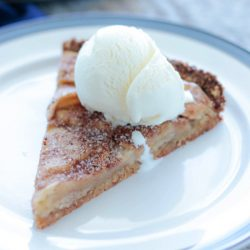 A delicious fall themed rustic apple tart recipe that is low carb and gluten free by Mellissa Sevigny of I Breathe Im Hungry