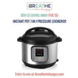An Instant Pot giveaway from Mellissa Sevigny of I Breathe Im Hungry