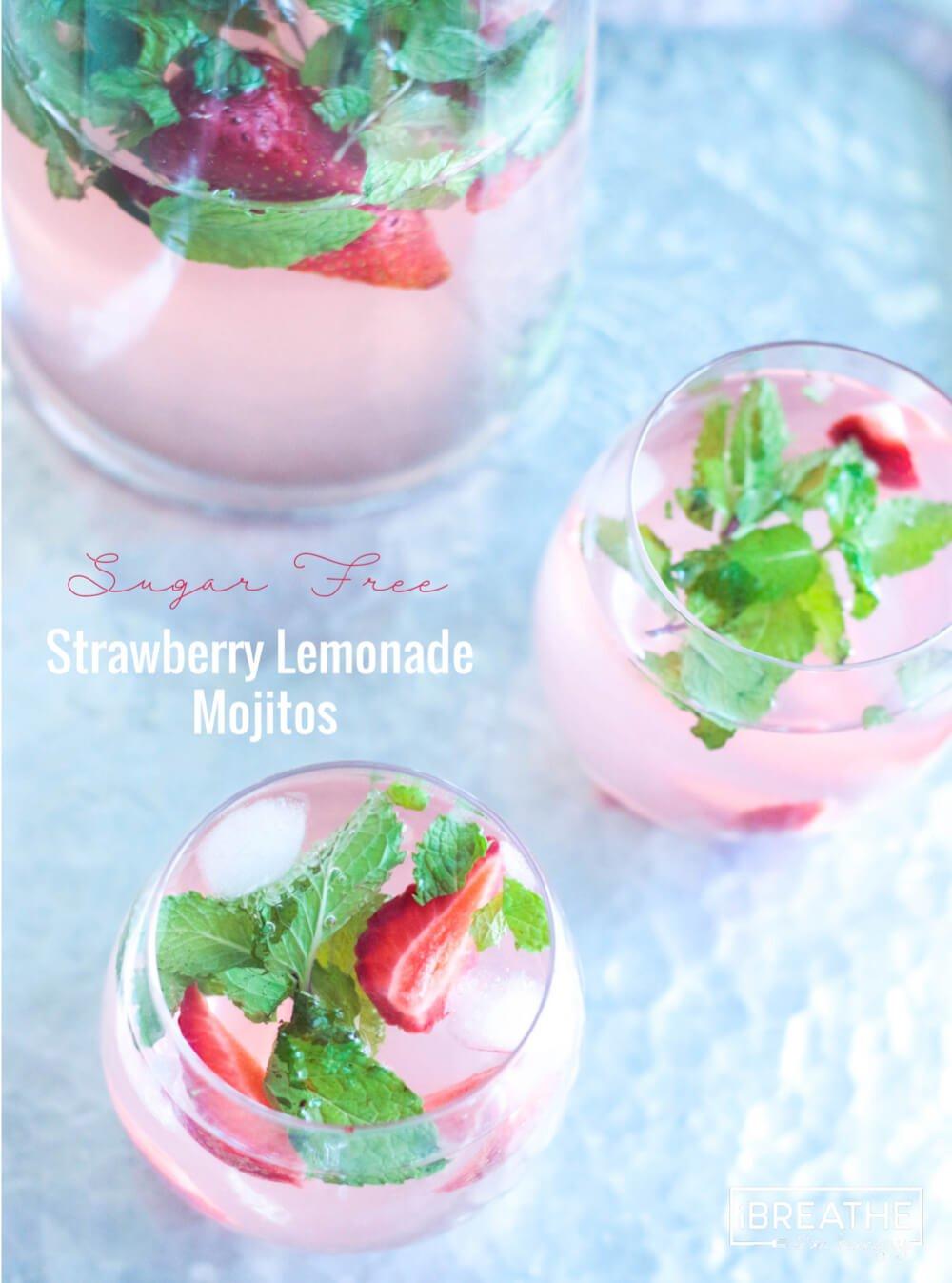 Low Carb Strawberry Lemonade Mojitos I Breathe Im Hungry