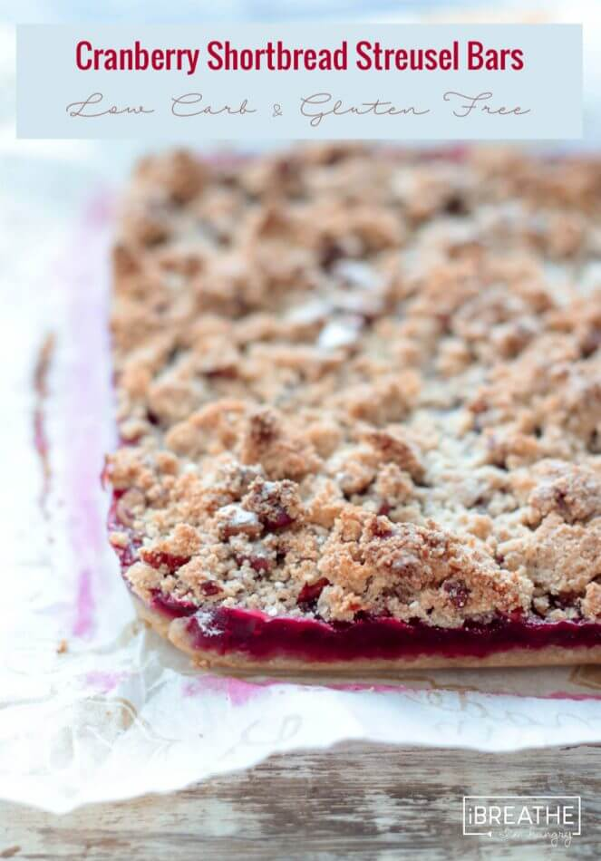 ... cranberry shortbread streusel bars are gluten free and easy to make