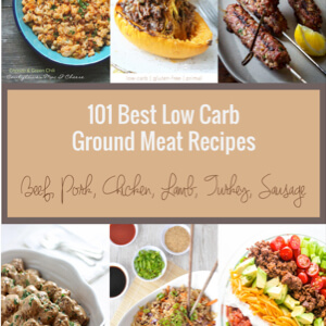 101 Best Low Carb Ground Meat Recipes