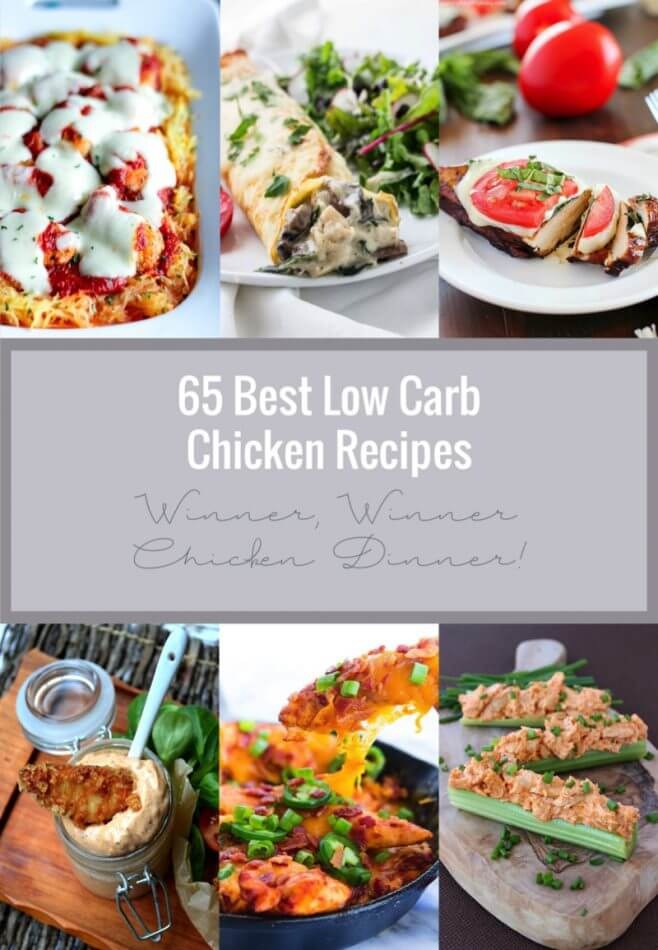A collection of the 65 Best Low Carb Chicken Recipes from around the inter webs.