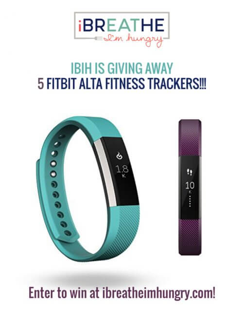 Mellissa Sevigny from I Breathe Im Hungry is giving away 5 Fitbit Alta's in January 2017!