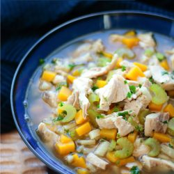 This Easy Low Carb Chicken Soup is delicious and Whole 30 approved!