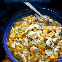 Comforting and delicious, this easy low carb chicken soup is perfect for flu season!