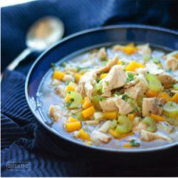 An Easy Low Carb Chicken Soup recipe from Mellissa Sevigny of I Breathe Im Hungry