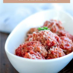 Make these Easy Keto Meatballs in the Instant Pot! Low carb and gluten free