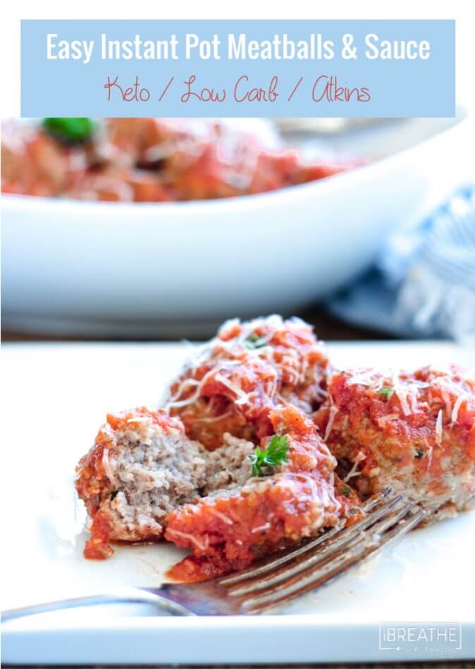 Easy Keto Meatballs in the Instant Pot - family friendly, low carb and gluten free