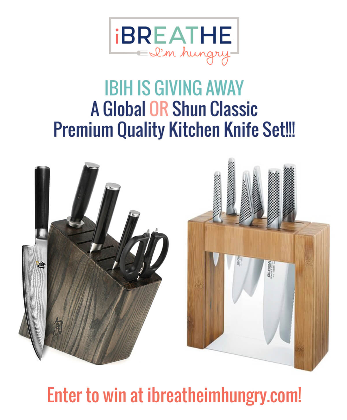 Mellissa Sevigny from I Breathe Im Hungry is giving away a premium kitchen knife set in February 2017!