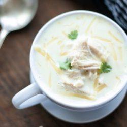 A keto chicken soup recipe from Mellissa Sevigny of I Breathe Im Hungry