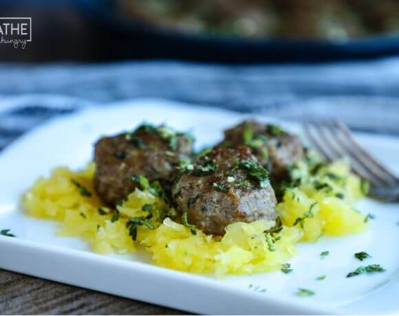 Lamb Meatballs with Mint Gremolata – Keto