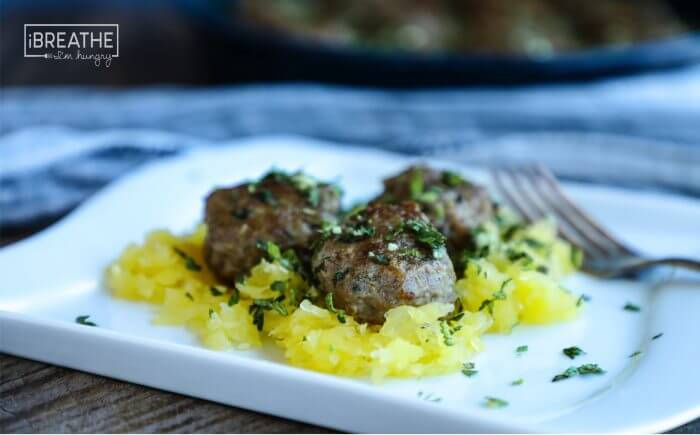 Low Carb Lamb Meatballs with Mint Gremolata - Paleo and Whole 30