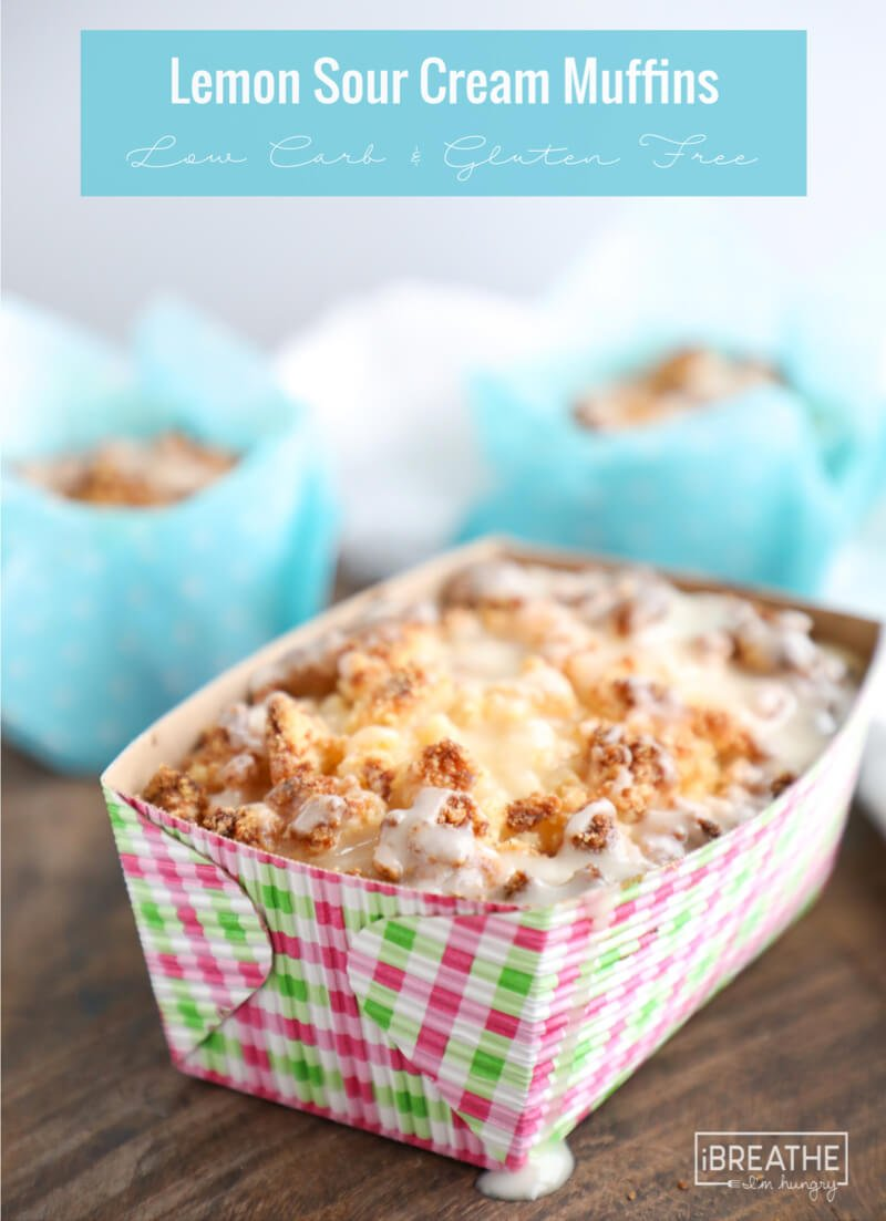 Make these keto lemon sour cream muffins in muffin cups or mini loaves!