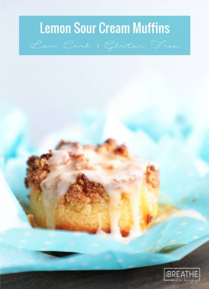 Celebrate Spring with these Keto Lemon Sour Cream Muffins! Low Carb & Atkins friendly!