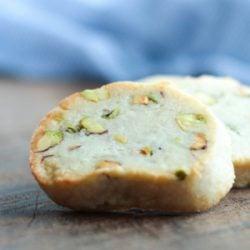 Easy keto Pistachio Shortbread Cookies from Mellissa Sevigny of I Breathe Im Hungry