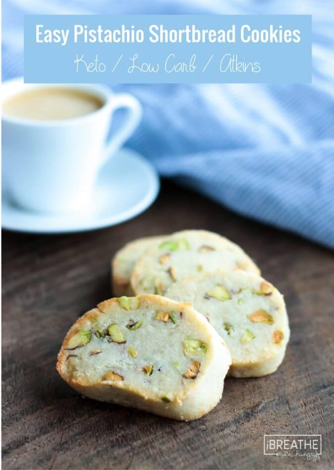 Easy Keto Pistachio Shortbread Cookies