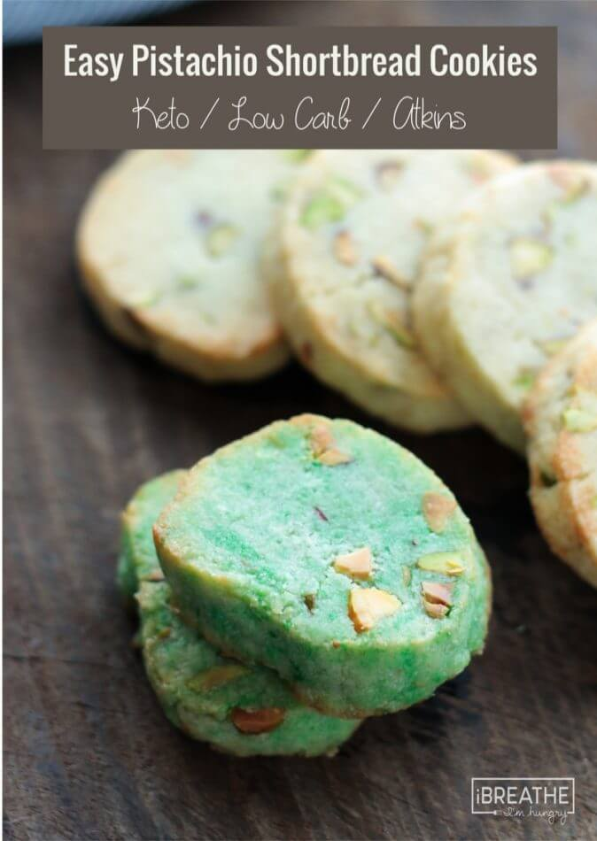 Green Pistachio Shortbread Cookies