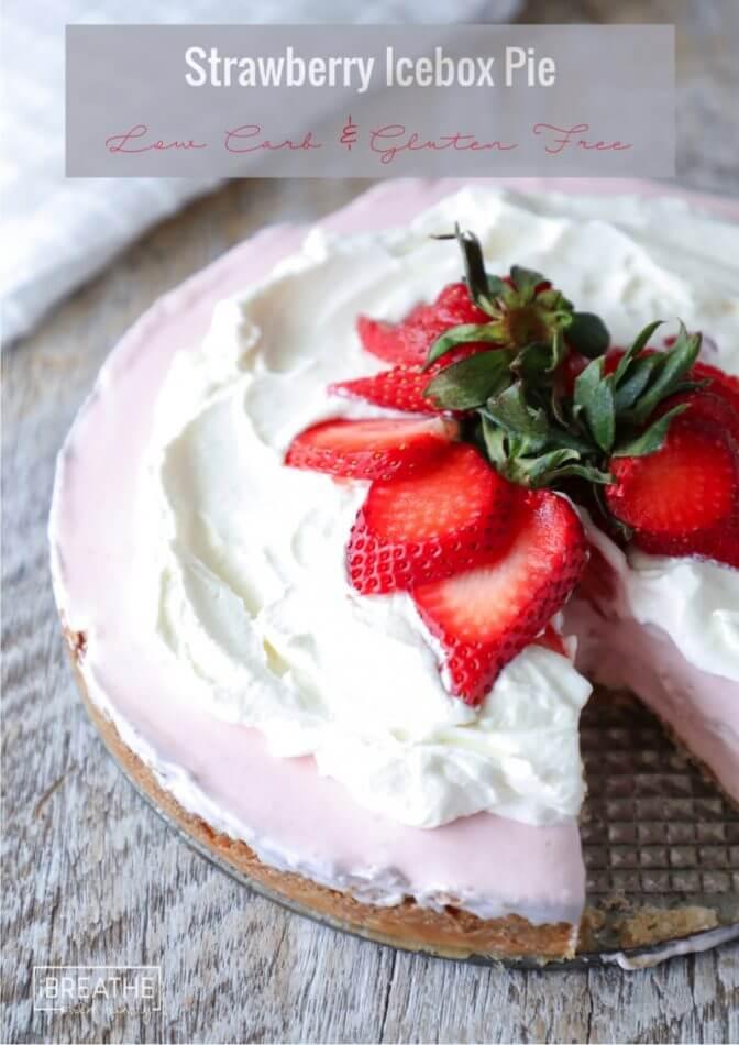 Spring perfection - Keto Strawberry Icebox Pie