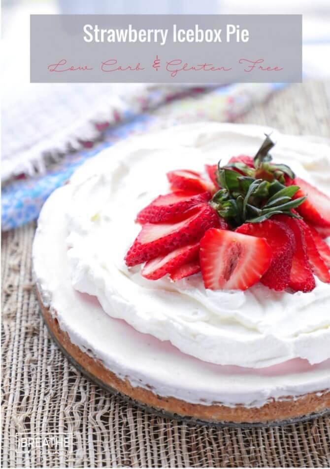 Keto Strawberry Icebox Pie - Indulge guilt free!
