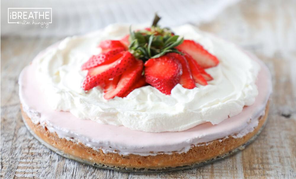 Keto Strawberry Icebox Pie - Low Carb   I Breathe I'm Hungry