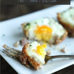 These cheesy ham hash egg cups are the perfect low carb breakfast on the go!