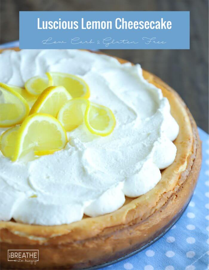 Make this low carb easy lemon cheesecake in your blender in minutes!