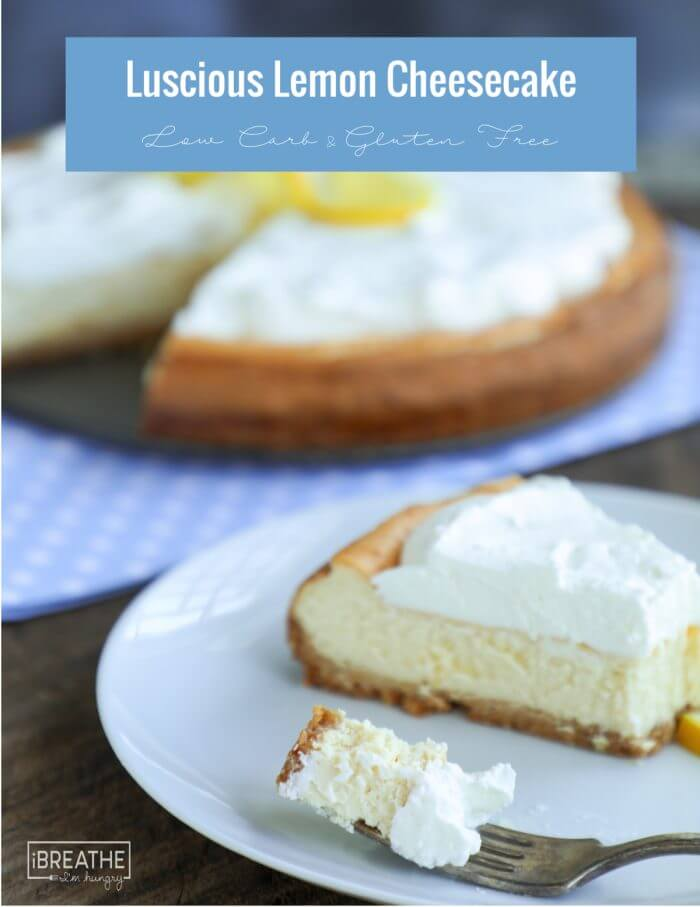 This easy lemon cheesecake is made in the blender! Really! Low carb, keto, atkins
