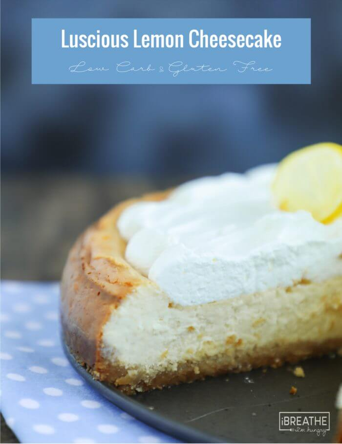 This easy lemon cheesecake is creamy and luscious - nobody will believe it's low carb!