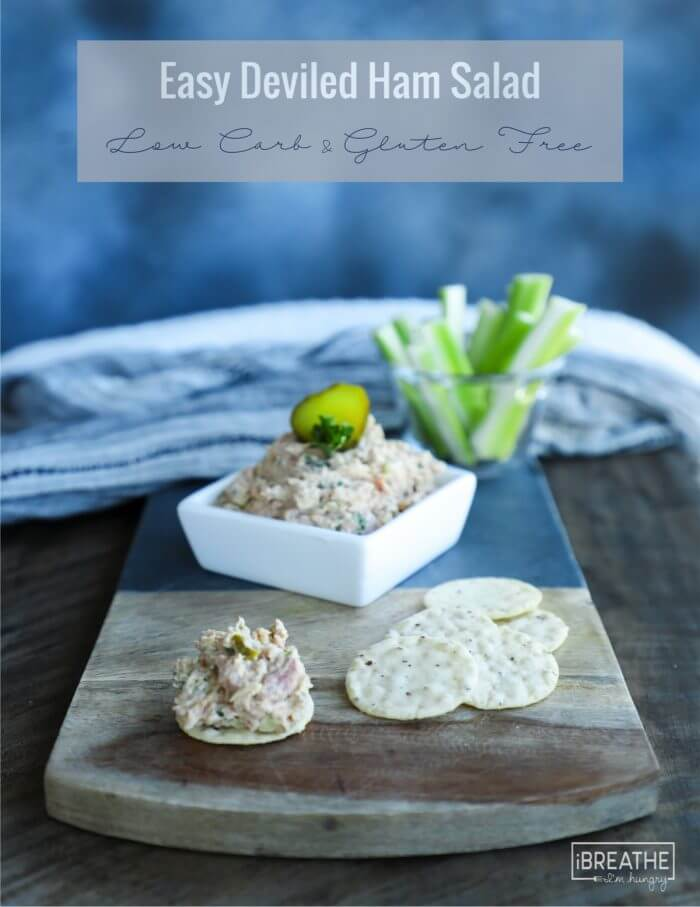 Use up leftover ham in this tasty and easy keto deviled ham salad!!!