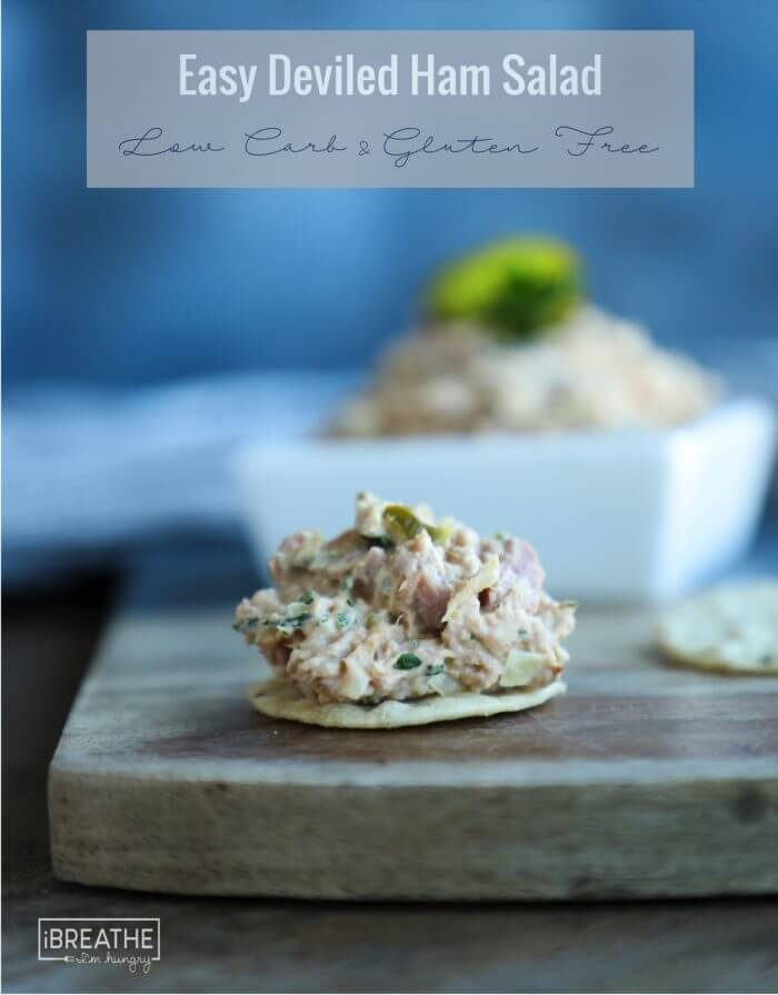 The perfect use for leftover ham, this easy keto deviled ham salad will be a hit with the entire family!