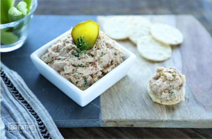 Easy Keto Deviled Ham Salad - salty, spicy, tangy perfection!