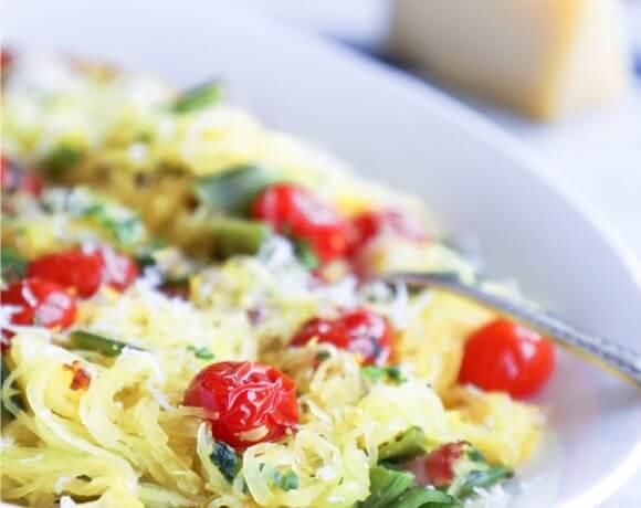 Keto Spaghetti Squash Primavera – Low Carb
