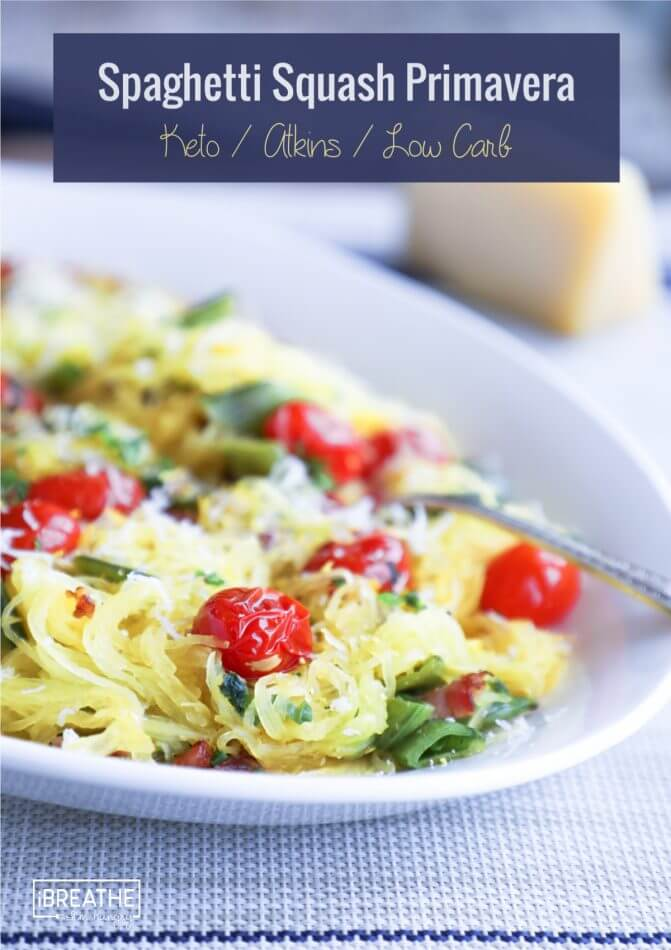 This delicious keto spaghetti squash primavera is a lightened up version of the classic
