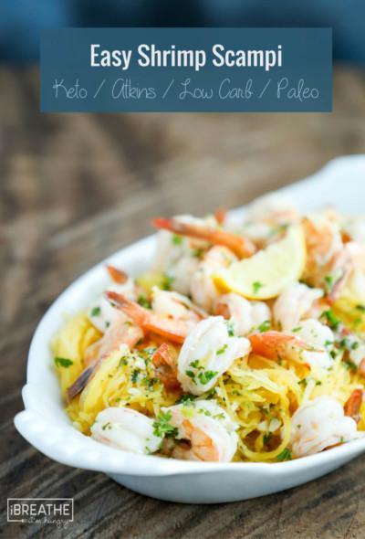 So easy. So delicious. Keto shrimp scampi for the win!