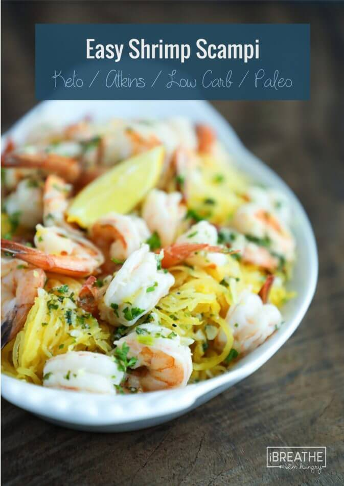 This easy keto shrimp scampi recipe is perfect for busy weeknights!!!