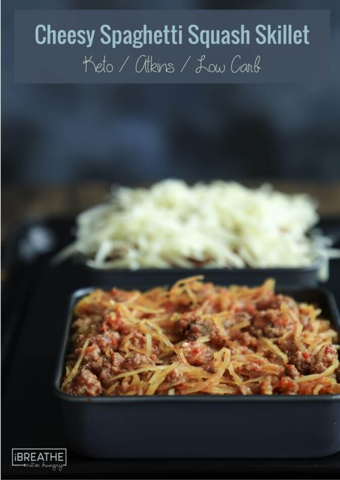 Cheesy Spaghetti Squash Skillet Keto Low Carb I Breathe Im Hungry