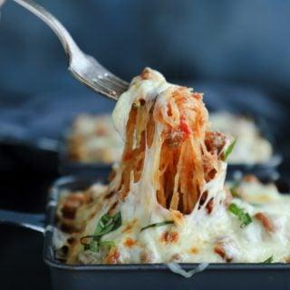 a keto spaghetti squash recipe from Mellissa Sevigny of I breathe Im hungry