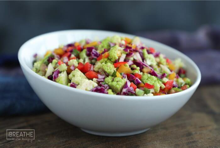 This beautiful Summer Confetti Salad is naturally low in carbs!