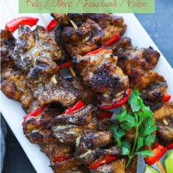 Easy and delicious grilled keto 5 spice chicken skewers! Low Carb & Paleo