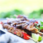 A keto grilled chicken skewer recipe by Mellissa Sevigny of I Breathe Im Hungry