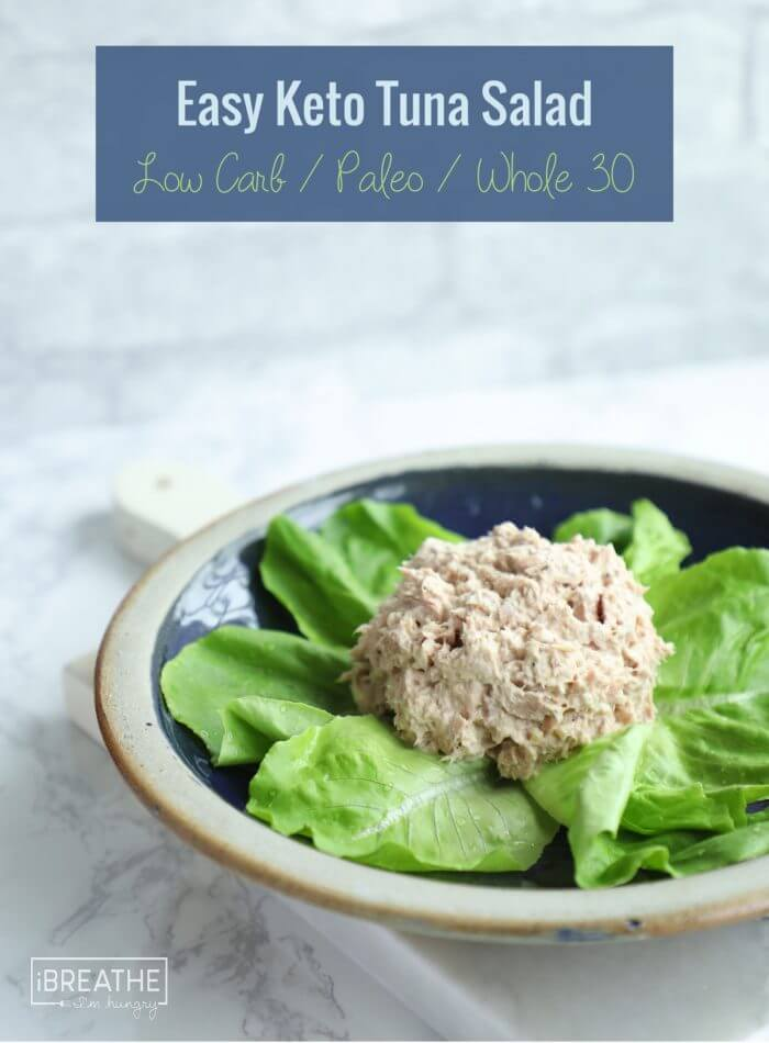 An easy keto tuna salad that takes 2 minutes to make and requires no chopping! Paleo, Whole 30, Low Carb
